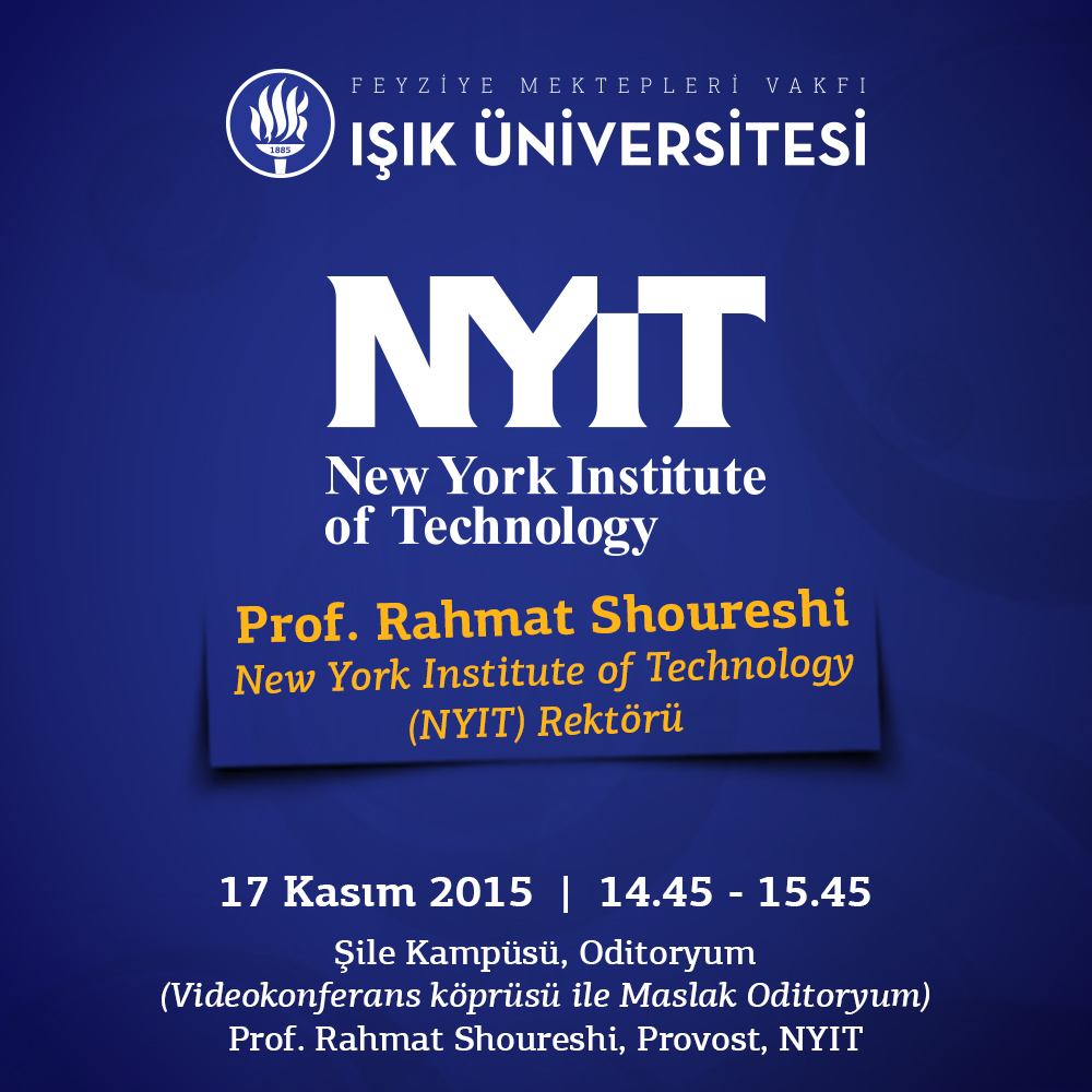 New York Institute of Technology Rektörü Prof. Rahmat Shoureshi